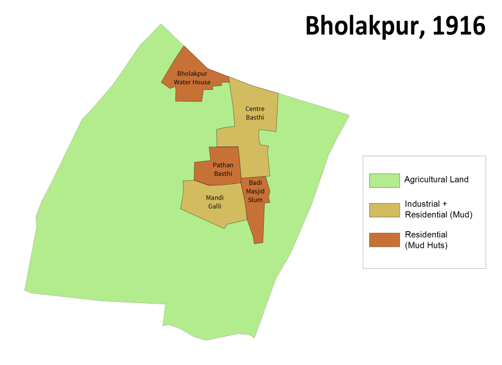 Bholakpur Map 1916