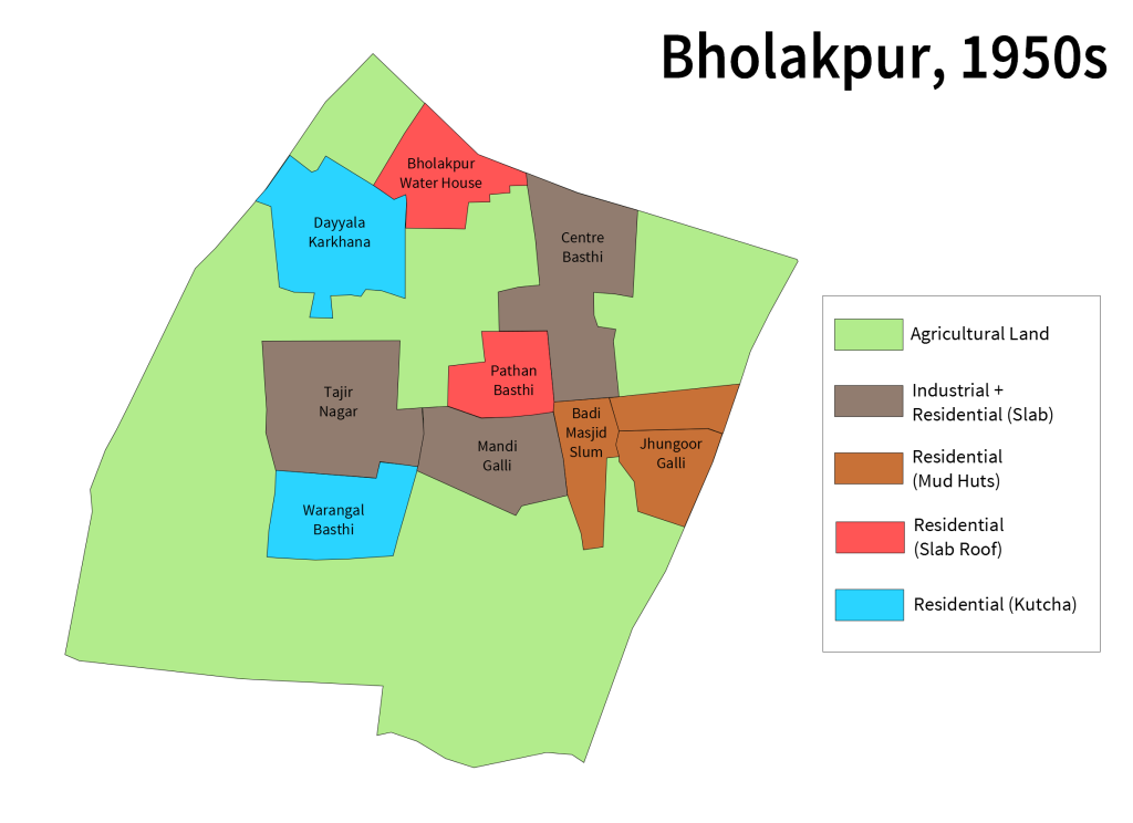 Bholakpur Map 1950s