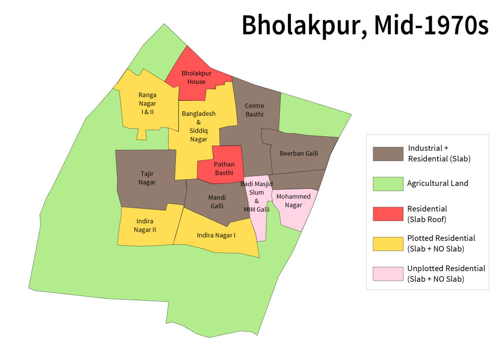 Bholakpur Map 1970s