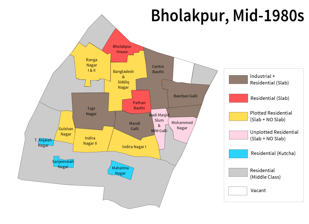Bholakpur Map 1980s