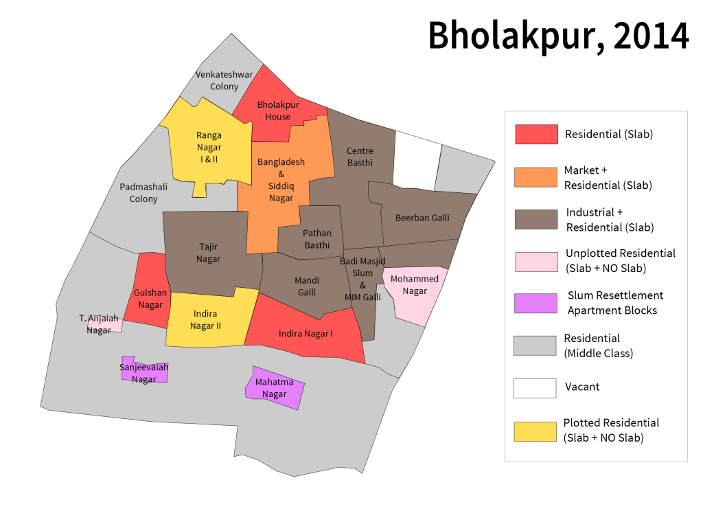 Bholakpur Map 2014 names